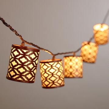 Metal Lattice 10-Bulb String Lights